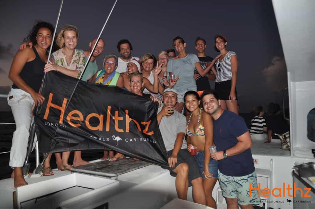 Boottocht teamfoto Healthz