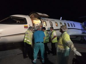 transport patient intensive care airambulance sint maarten